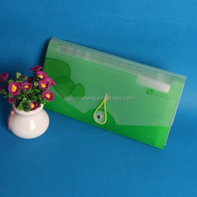 Latest expanding file document plastic bag clear plastic wallets from China