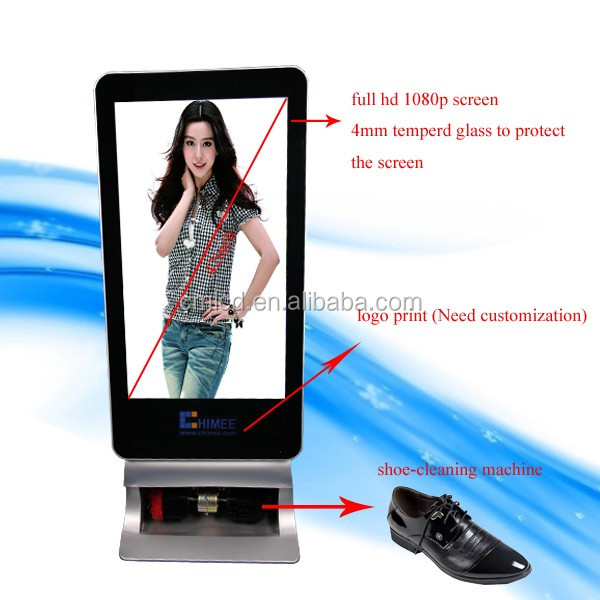 47inch stand alone digital advertising shoe shine machine Lcd totem display