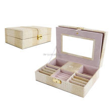 Beige luxury large mirrored box for jewelry wholesales