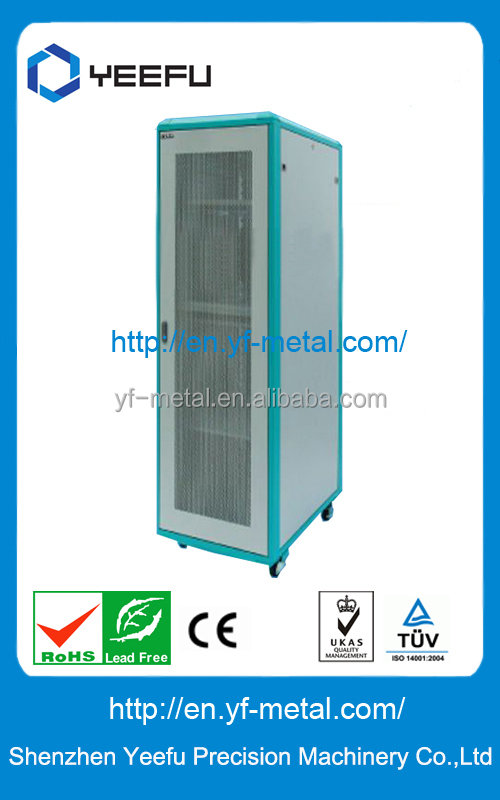 Aluminium frame Network Cabinet with Fun Unit