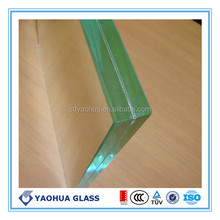 Decent PVB laminated glass price. clear 6.38mm laminated glass,colored 6.38mm laminated glass