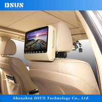 9 Inch headrest monitor back seat dvd player for car slot in dvd loader