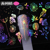 Christmas Nail art Design 100*4cm Transparent Transfer Foil Decal Laser Nail foil Tumbling Nail Sticker
