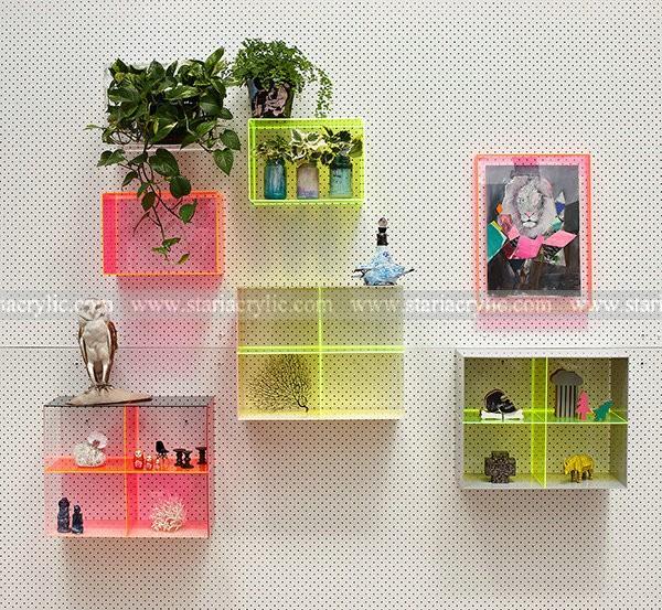 Acrylic Box To Hang On Wall : New acrylic wall showcase furniture mounted