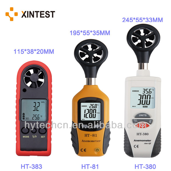 HT-81 High Quality Low Price Portable Digital Wind Anemometer for Measure Wind Speed and Temperature