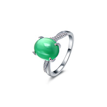 wholesale fashion class ring designs silver jewelry emerald silver rings for ladies