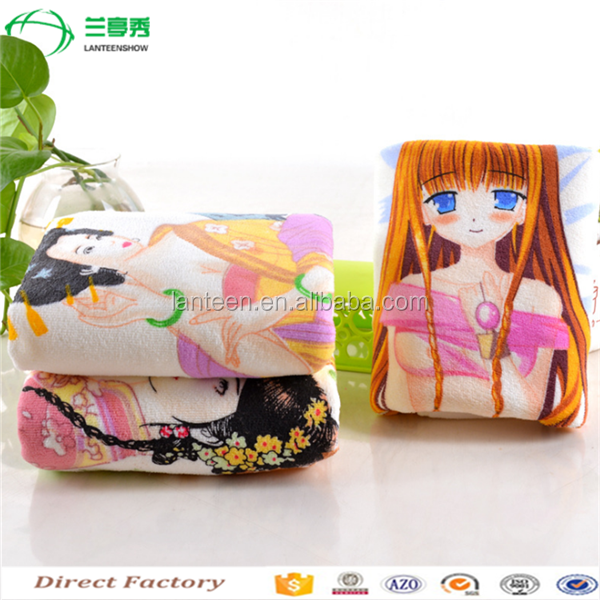 wholesales take off cloth color changing sexy girl face towel