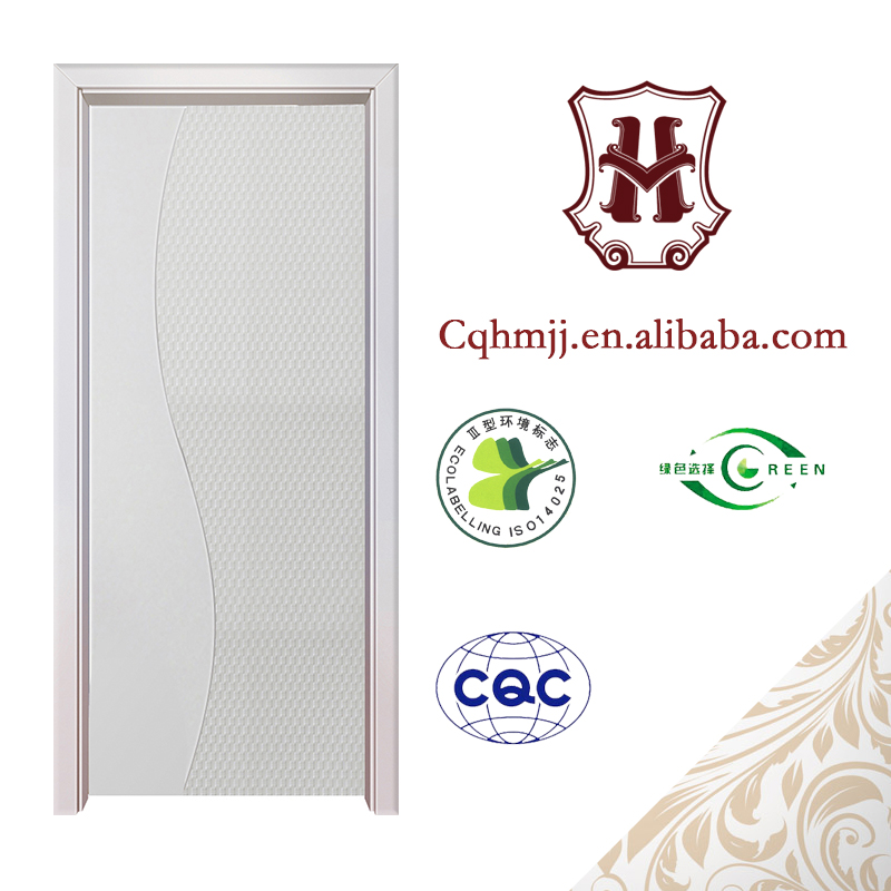 Latest chinese factory wood safety door pictures