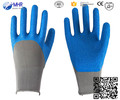 2016 hot sale !!!safety safety work glove ,work glove ,rubber coated nylon work glove
