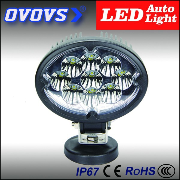 27W ellipse oval waterproof led work headlights CE IP68 RoHS listed