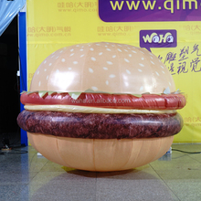 2018 Hot sale giant inflatable hamburger, inflatable burger, inflatable food for advertising