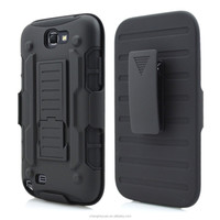 China Wholesale Armor Holster Hybrid Rugged Cover Case For Samsung Galaxy Note2