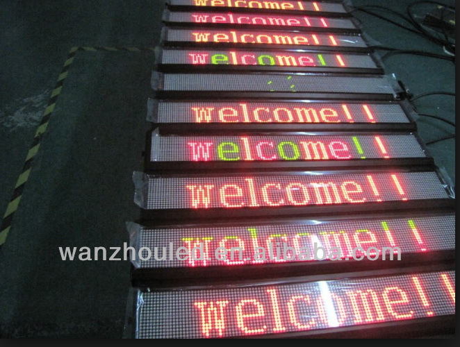 wanzhou factory Express!!!waterproof outdoor dip 1r p10 single color led display sign/LED board/led panel
