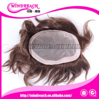 Wholesale human hair piece natural men toupee alibaba brazilian hair wig remy hair toupee for men