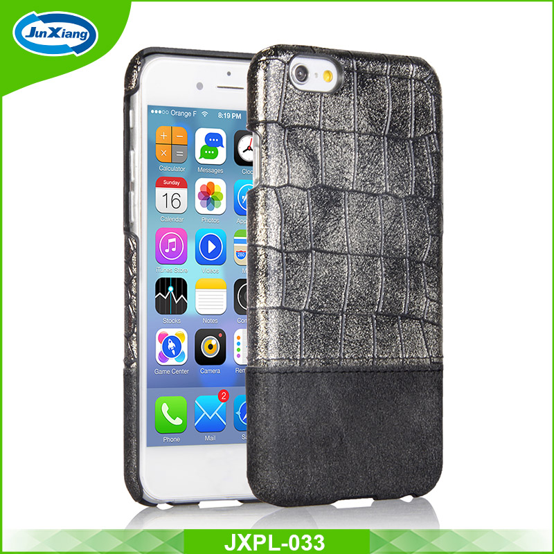 Luxury crocodile pattern PU leather mobile phone PC case for iphone 7 7 plus