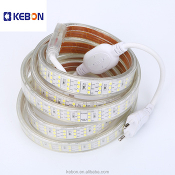 Hot Wholesale three row 220V IP68 OEM SMD2835 Project LED strip light