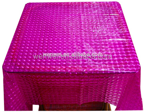 3D peva wedding decoration table cloth
