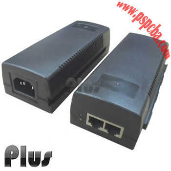 44~57V 600mA Single Port Power over Ethernet Midspan IEEE802.3at Compliant POE adapter