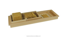 Montessori math golden beads toy of Introduction to Decimal Symbols with Trays