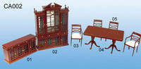doll house diy 1/48 scale restaurant miniature wood cabinet