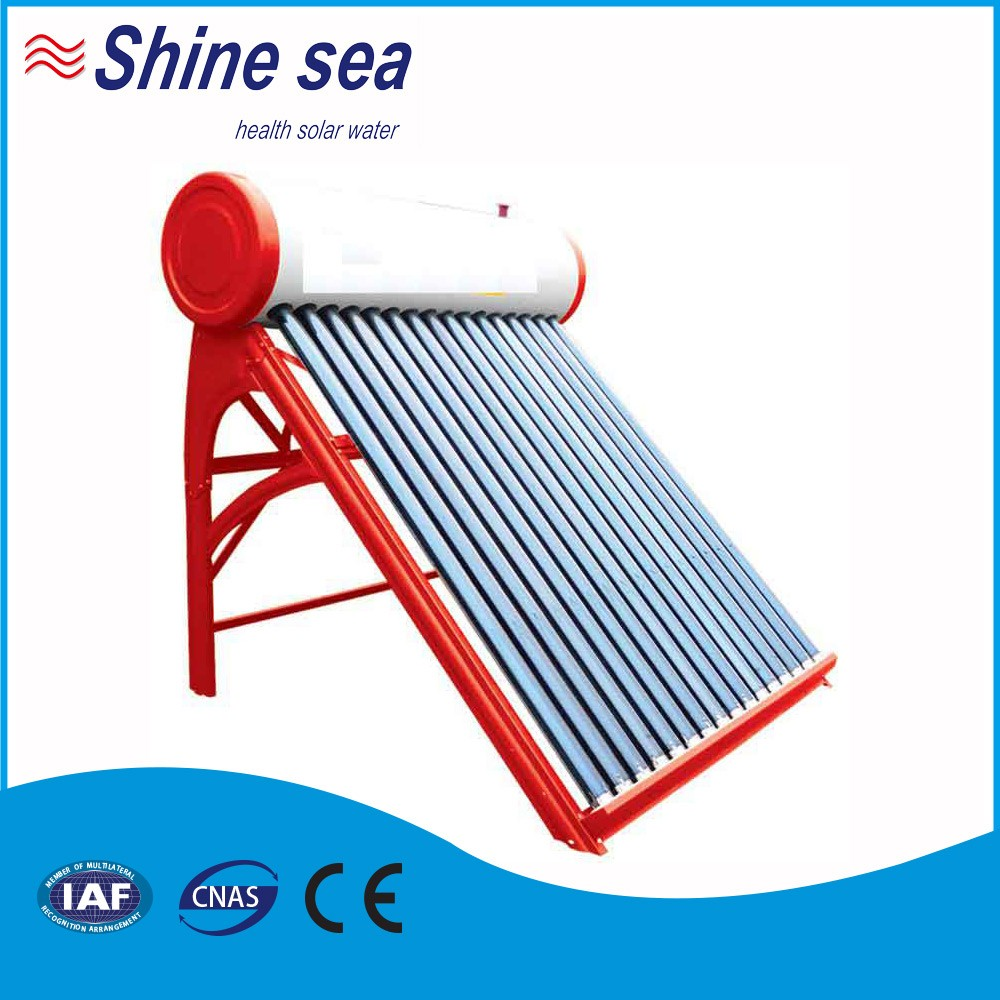 Solar energy water heating solar thermal collector evacuated vacuum tube