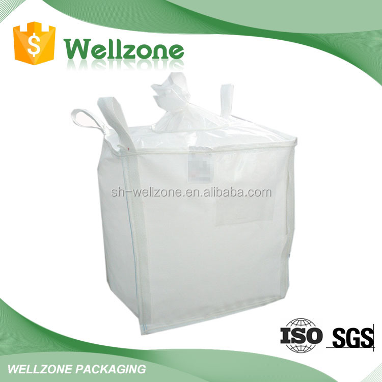 Wholesale china manufacturer 100% virgin resin polypropylene big bag / FIBC pp woven 1 ton jumbo bulk bag / super sack / ton bag