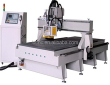 Wood furniture cabinet door making machine / woodworking milling cutting machine / ATC cnc router