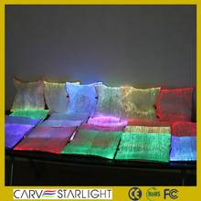 2015 Wholesale optic fiber luminous decorative throw pillow cover