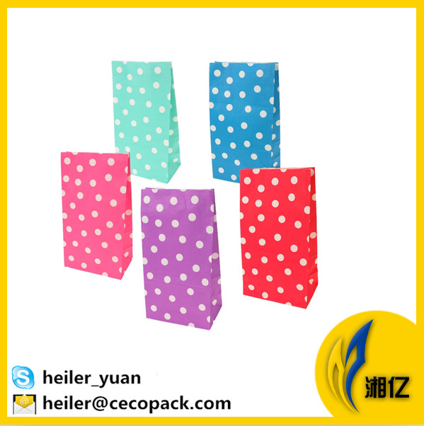 Sos polka dot party goodies treat paper stand up bag