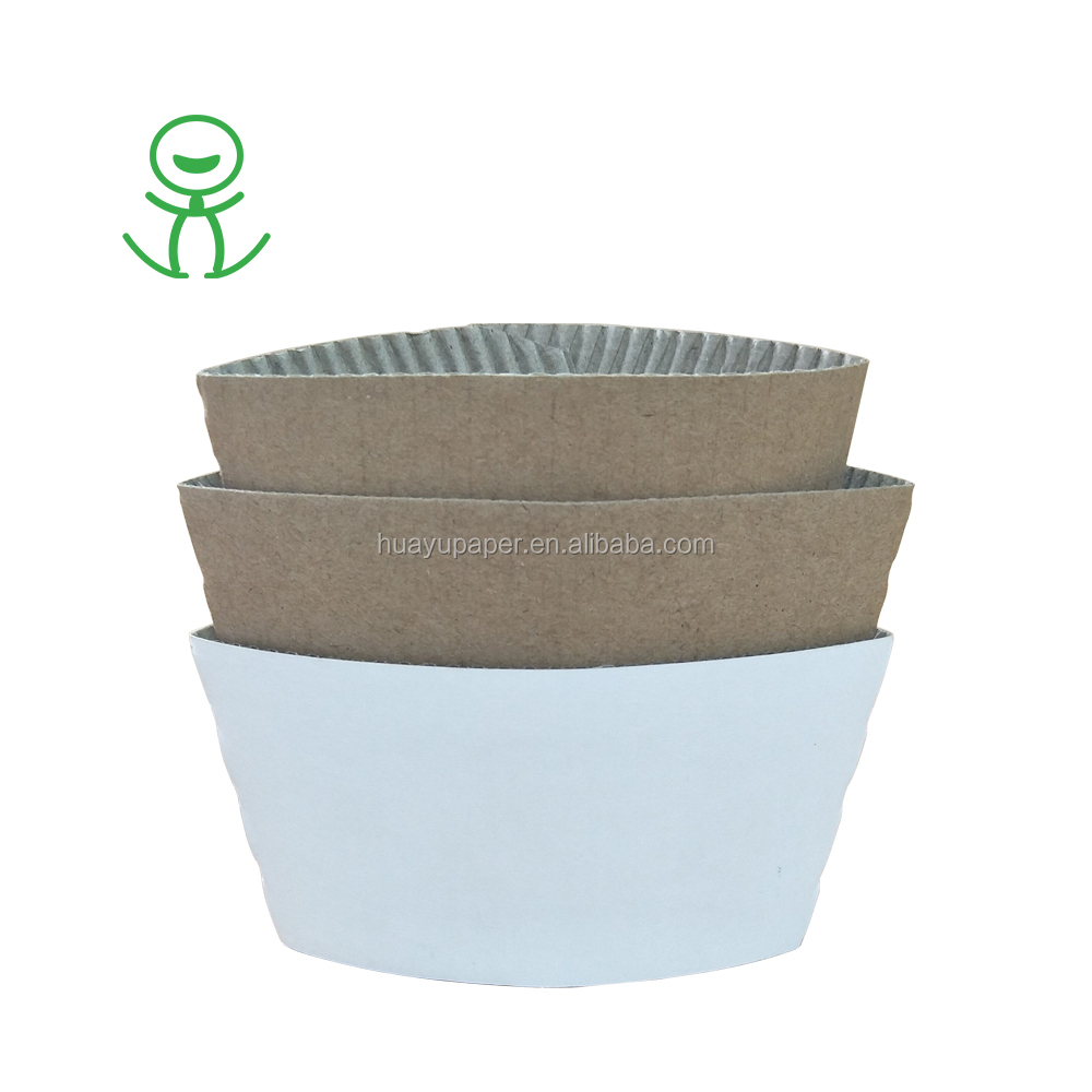 Disposable die cut black coffee paper cup with lid and sleeve