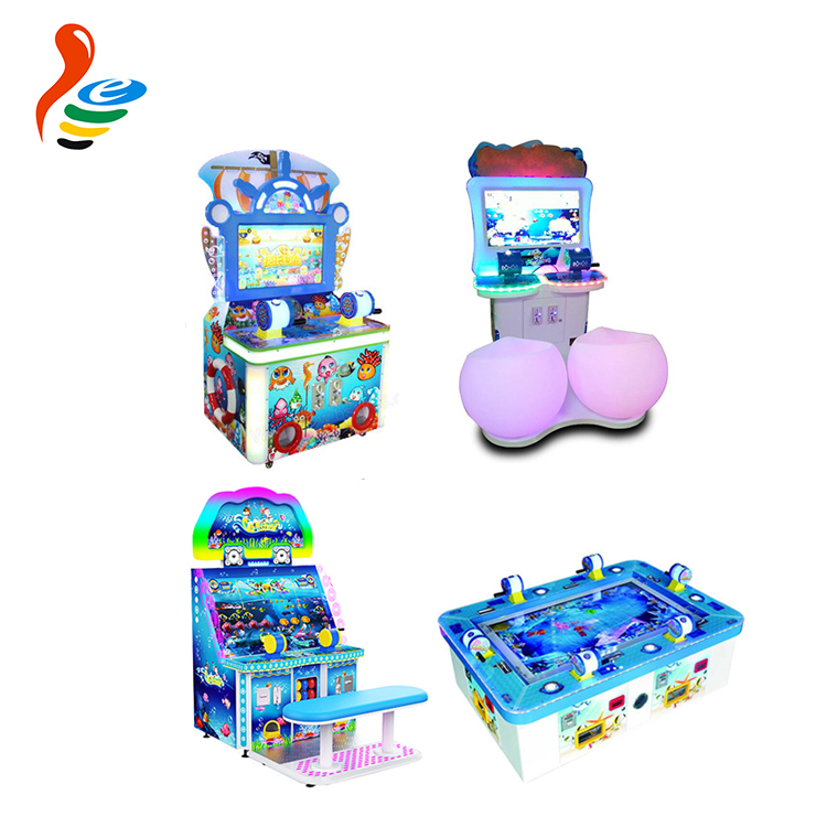 coin operated 4 players arcade electric fishing machine redemption game electronic simulator fish indoor amusement game machine
