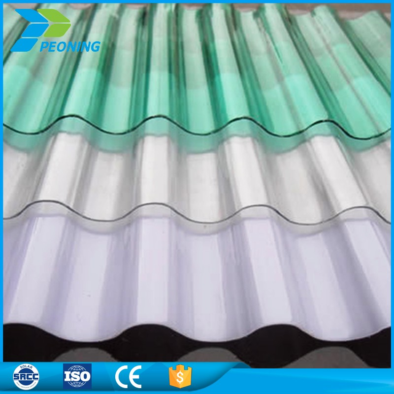colored translucent polycarbonate corrugated pc roofing sheet