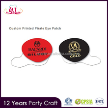 2017 New Premium Products Custom Printed Pirate Costume Eye Patch for Promotional gift