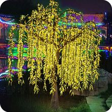 Mall decoration led uk artificial willow tree lamp for home decor