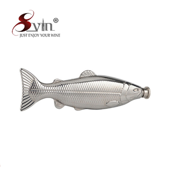 Novelty Fish Shape 4oz Stainless Steel Hip Flask