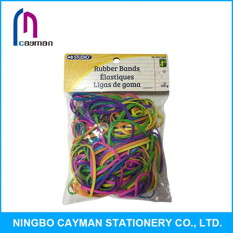 Various colors available yellow rubber bands