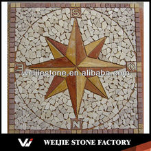 Natural Stone Sun Mosaic Art Patterns Design meddallion