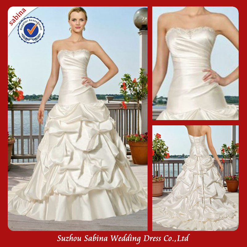 Sh0508 Custom wedding dress 2014 vestido de noiva made in vietnam wedding dresses
