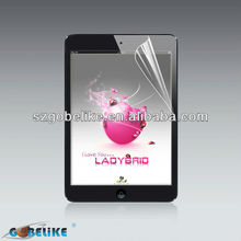 factory price! clear lcd screen protector for ipad mini