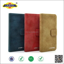 Retro Slim Frosted Leather Flip Wallet Card Holder Stand Case Cover for iphone6/6s and Other model