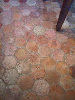 Antique French Handmade Terracotta Tiles