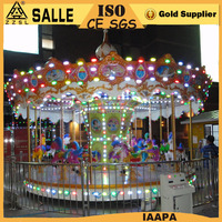 Indoor or outdoor family game amusement fun fair rides 16 seats carousel