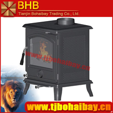 Indoor heating secondary air and combustion cast iron wood burning stove