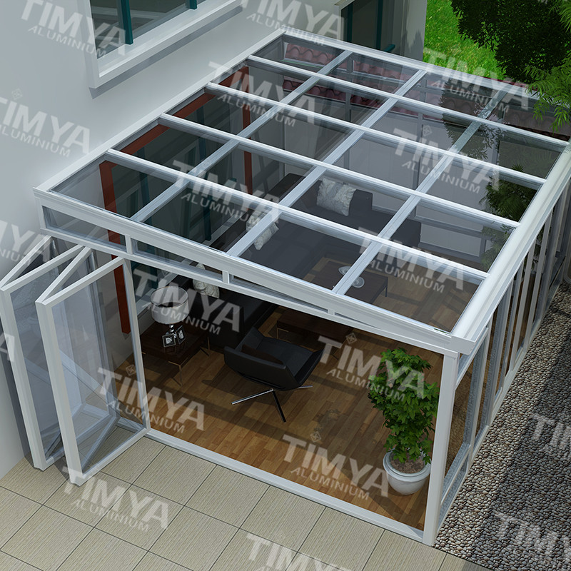 High-end aluminum comfortable polycarbonate sunrooms