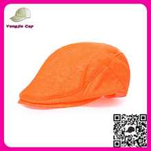 Wholesale Newsboy Cabbie Gatsby Hat Flat Ivy Cap orange custom made ivy newsboy caps hats