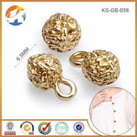 Round Shaped Gold Color All types Of Fashion Desinger Custom Clothing Buttons