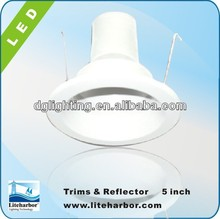 ETL Listed 6 inch recessed downlight line voltage cone trim with baffle-B6011