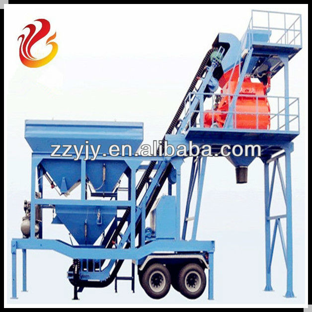 Advanced Electric Control Mobile Concrete Batching Plant/Mobile Concrete Mixing Plant/Mobile Concrete Plant