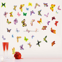 PVC 3D Butterfly Wall Stickers Decals Home Decor Poster for Kids Rooms Adhesive to Wall Decoration Adesivo De Parede