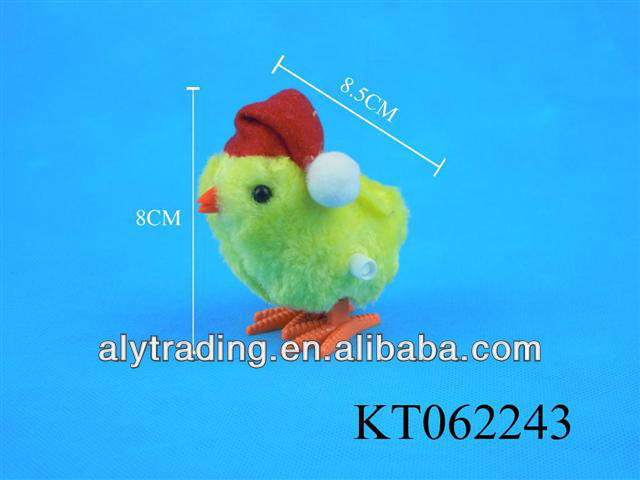 Shantou Farah Toy Plush Toys Christmas Hat Wind up Chick